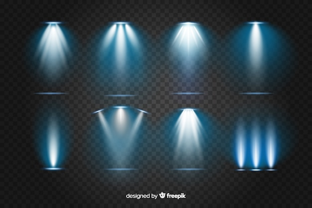 Collection of realistic bursts of light
