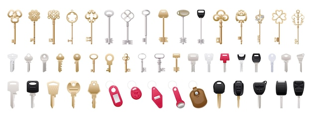 Collection of realistic keys