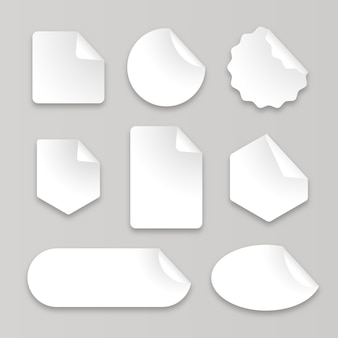 Collection of realistic paper stickers