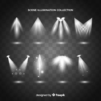 Collection of realistic spotlight illumination
