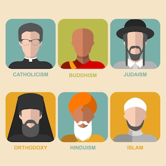 Collection of religious characters