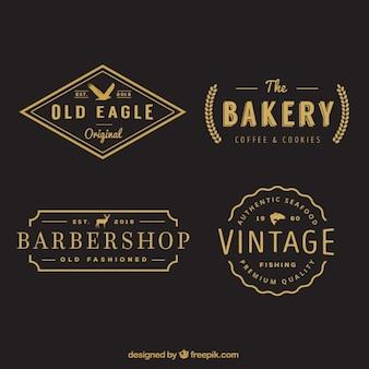 Collection of retro logotype