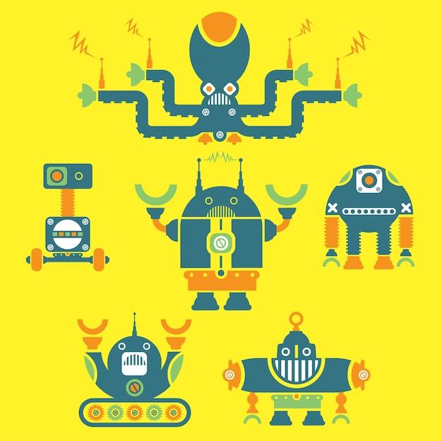Collection of retro robots