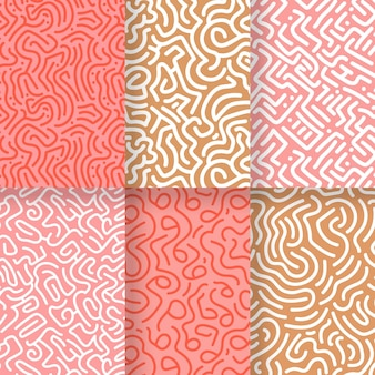 Collection of rounded lines patterns