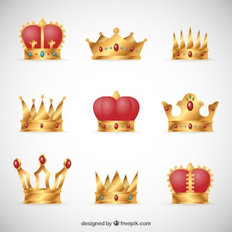 Collection of royal crowns