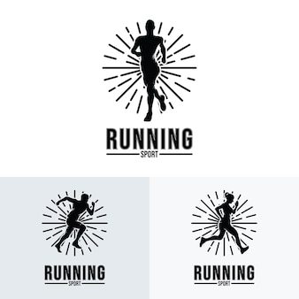 Collection of running logo design