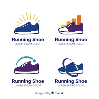Collection of running shoe logos