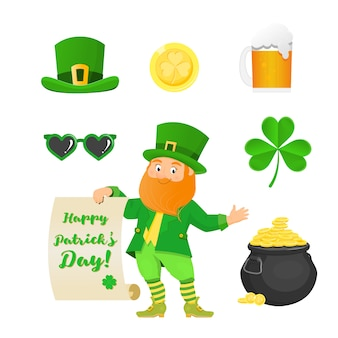 Collection for saint patrick day. isolated