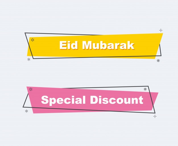 Collection of sale discount banners. color full flat design.