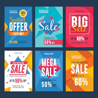 Collection of sale and discount flyers