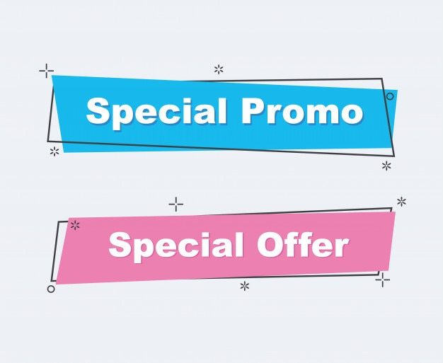 Collection of sale discount styled banners.