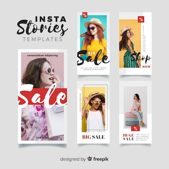 Collection of sale instagram stories templates