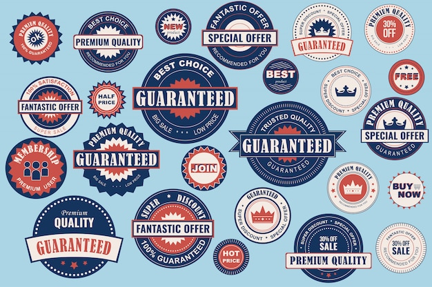 Collection sale labels. stickers premium quality flat style for social media ads and banners, website badges, marketing, labels and stickers for online shopping templates.