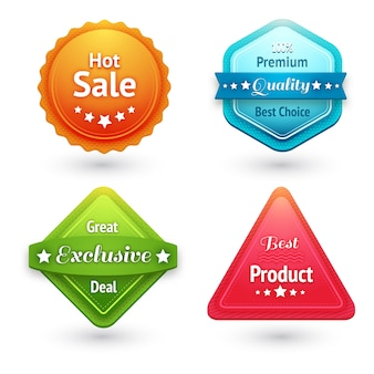 Collection of sale labels