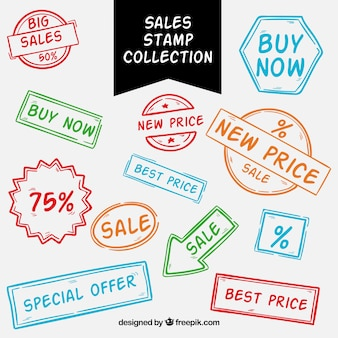 Raccolta di timbro di vendita