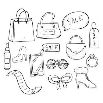 Collection of sale time with women accessories