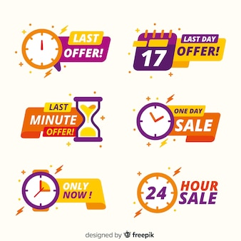 Collection of sales countdown banner