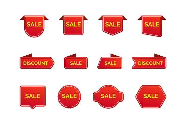 Collection of sales label