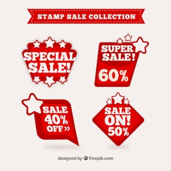 Collection of sales stamps