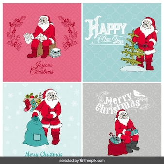 Collection of santa cards