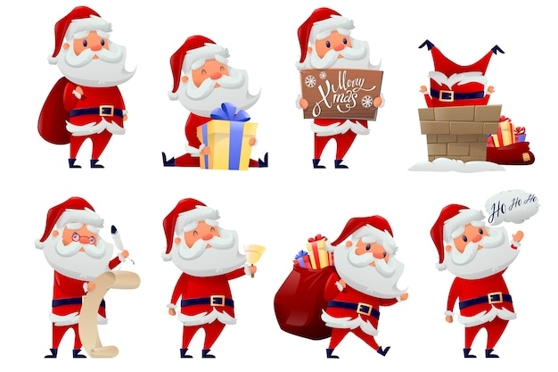 Collection of santa claus