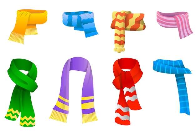 Collection of scarves for boys and girls