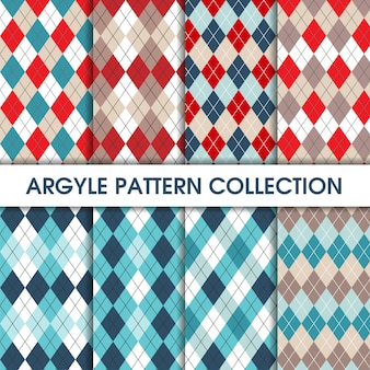 Collection of seamles argyle pattern