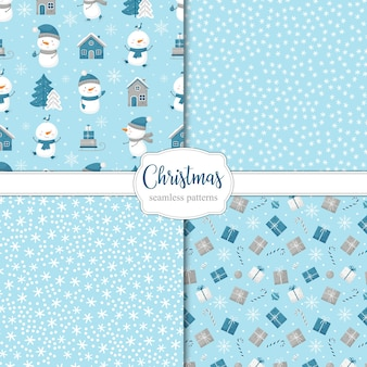 Collection of seamless christmas patterns