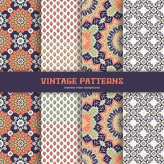 Collection seamless patterns