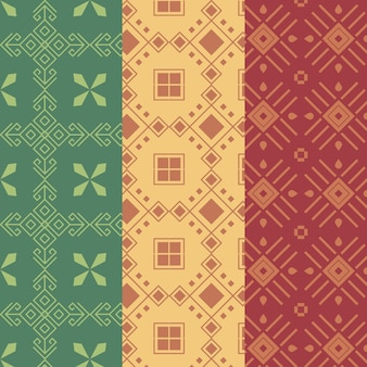 Collection of seamless songket pattern