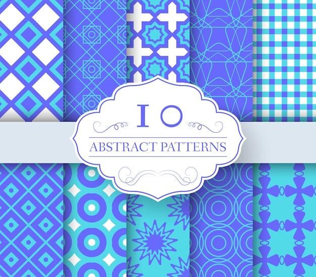 コレクションセット抽象的な見本シームレスパターン