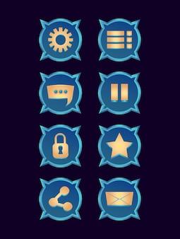 Набор сбора фэнтези глянцевый значок для игрового интерфейса