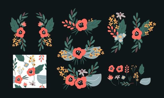 Коллекция набор цветочного венка
