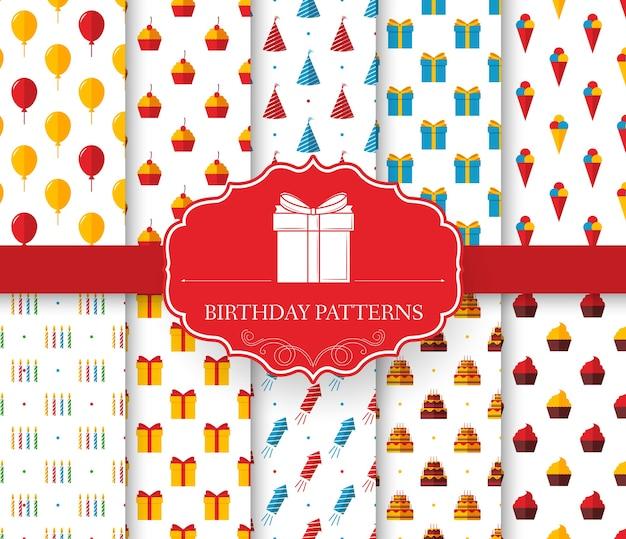 생일 완벽 한 패턴의 컬렉션 집합