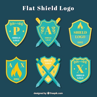 Collection of shield logo