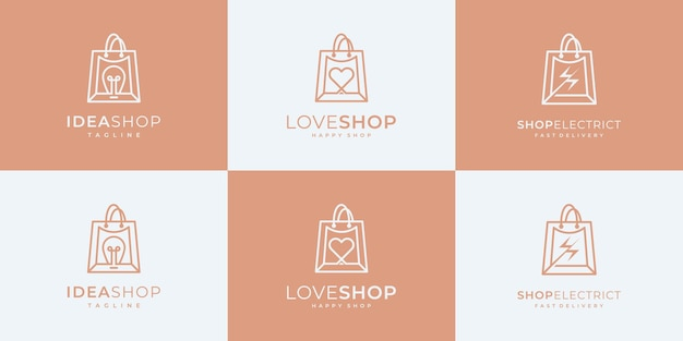 Коллекция торговых логотипов.