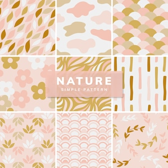 Collection of simple pattern illustration