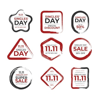 Collection of singles day badges