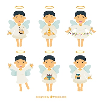 Collection of six christmas angels