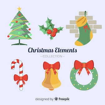 Collection of six christmas elements