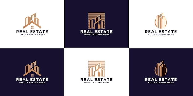 A collection of skyscrapers, buildings, urban high-rise buildings and business card inspiration