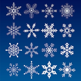 Collection snowflakes. nice element for christmas