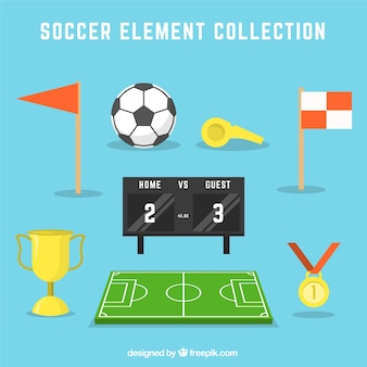 Collection of soccer elements