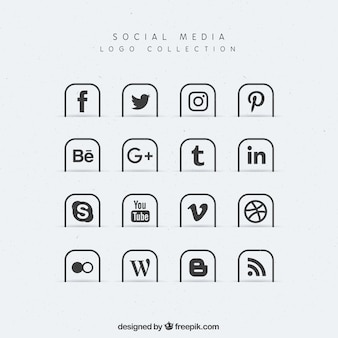 Collection of social media icons