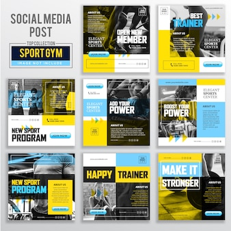Collection of social media post design template
