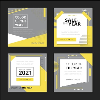 Collection of social media post sale template
