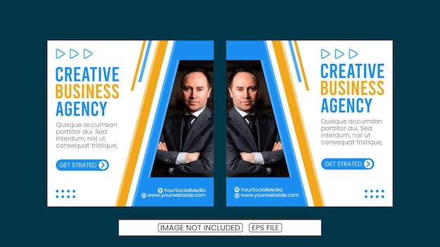 A collection of social media post templates for cretive agents digital banners posters