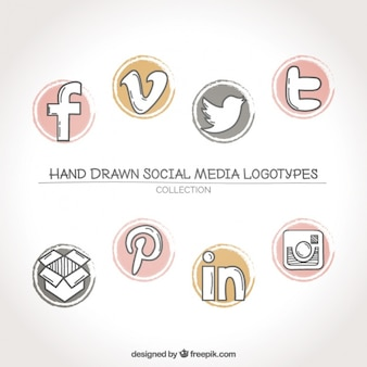 Collection of social networks logos