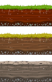 Collection of soil ground layers