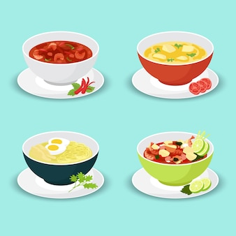 Collection of soup assortment